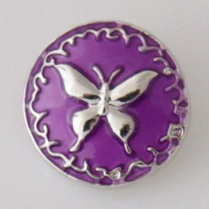 Purple Butterfly Snap for Snap Jewelry